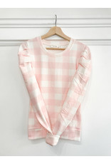 RD Style RD Style - Marla puff sleeve pullover (pink check)