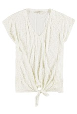 Garcia Garcia - White T-Shirt With Allover Leopard Print