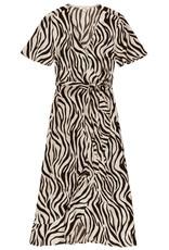 Garcia Midi Dress With Allover Zebra Print