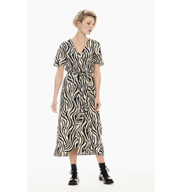 Garcia Garcia - Midi Dress With Allover Zebra Print