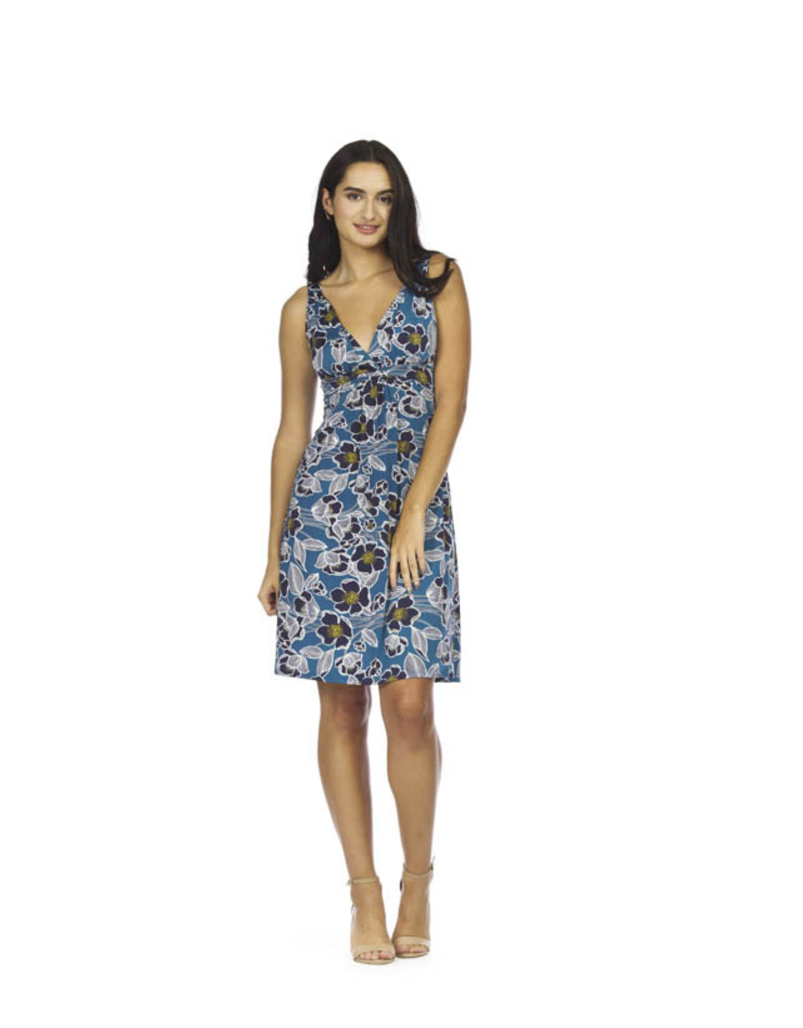 Papillon Papillon - Textured floral Grecian dress