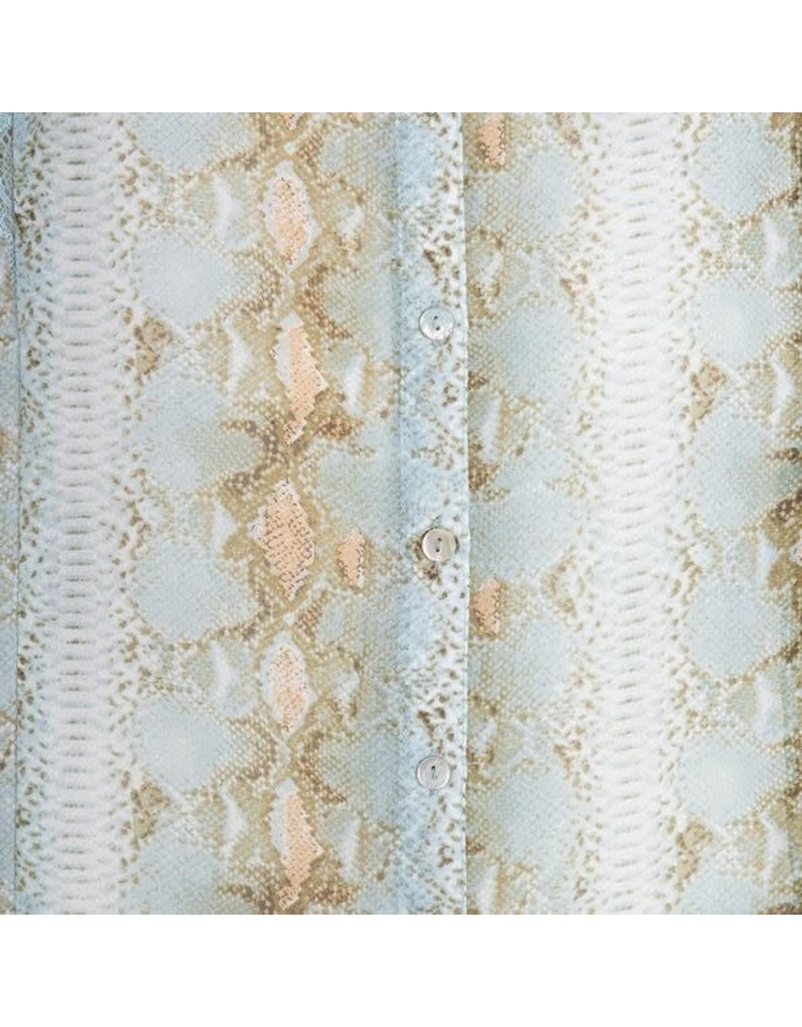 EsQualo EsQualo - Snake print lace blouse
