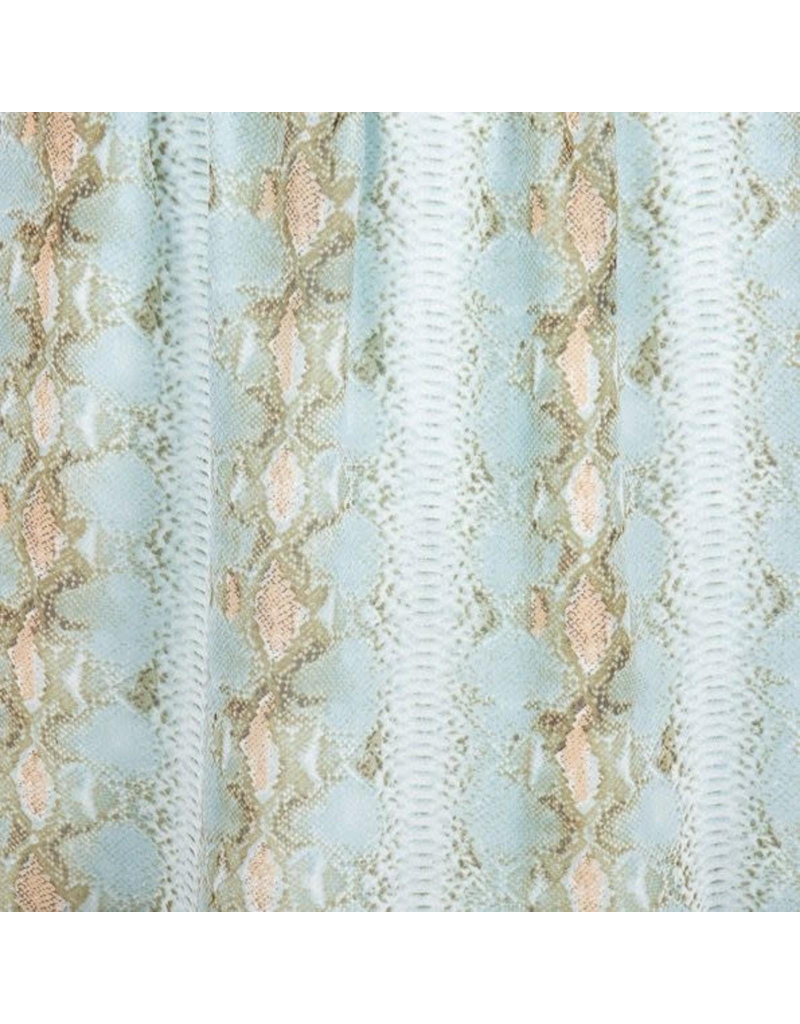 EsQualo EsQualo - Snake print ruffle skirt