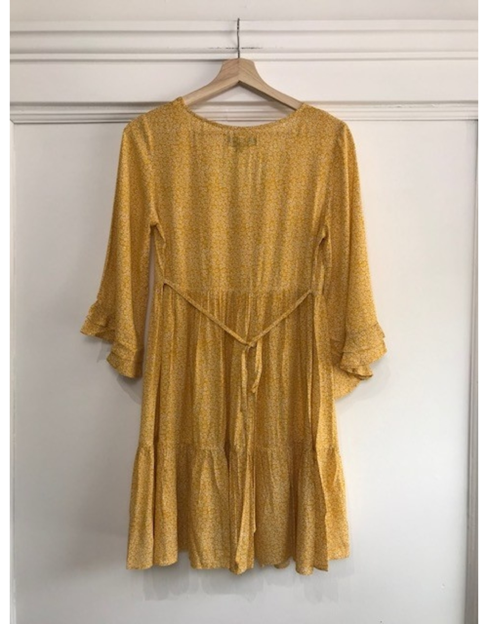 Papillon Papillon - Tiered bell sleeve smocked dress