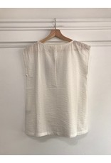 Pan Pan - Petra white top with pocket and buttons