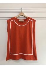 Pan Pan - Sabine sleeveless top (orange)