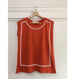 Pan Pan - Sabine sleeveless top (orange)