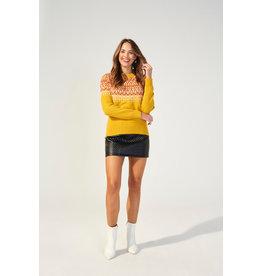 Mink Pink Lean on Fairisle jumper
