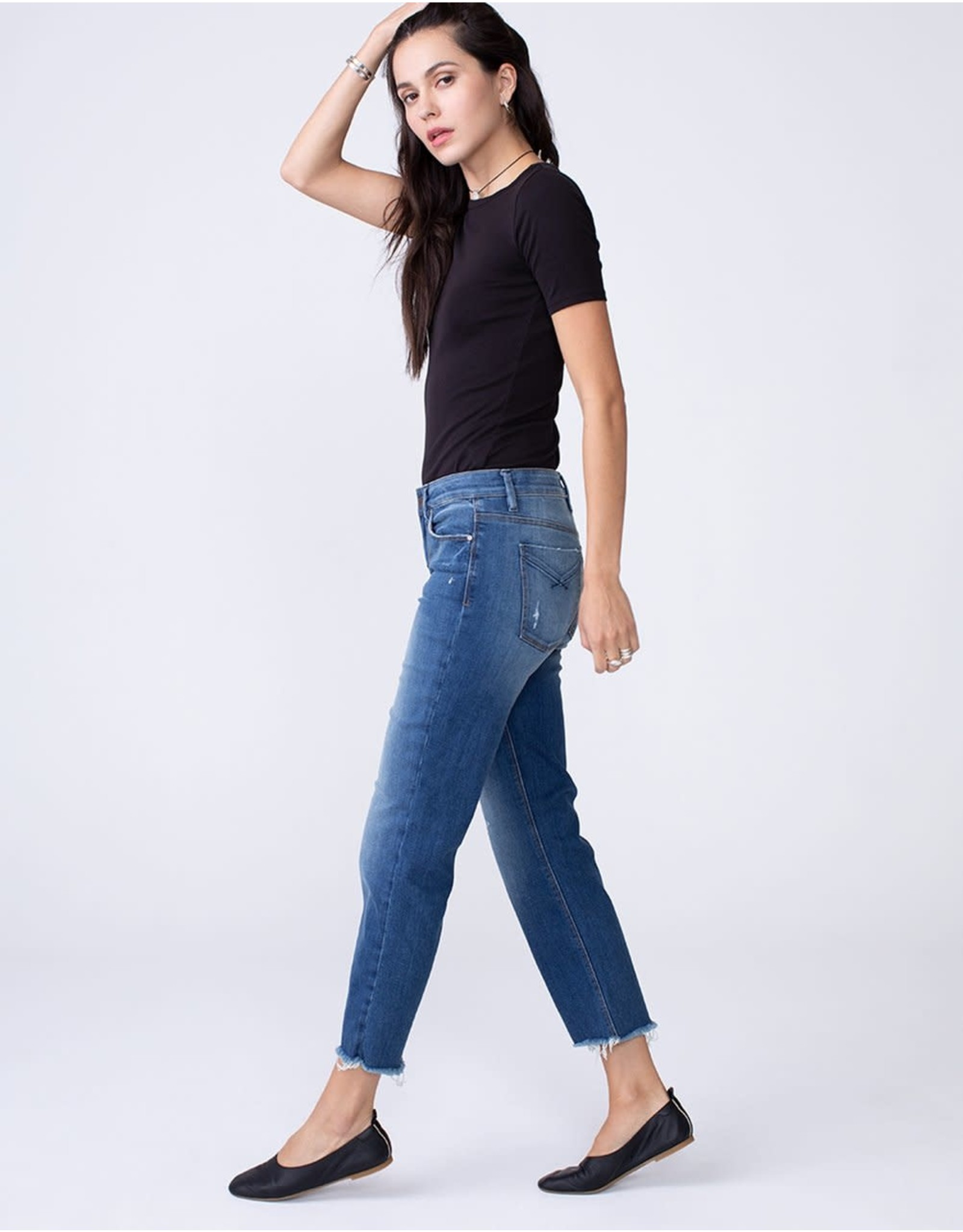 Unpublished Kenzie - Mid Rise Modern Mom Fit Straight in Vital