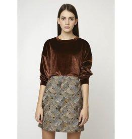 Compania Fantastica Leaf print mini skirt