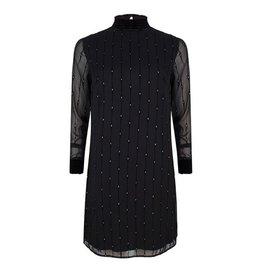 EsQualo EsQualo - Vertical diamond print dress