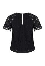 EsQualo EsQualo - Vivian black lace top