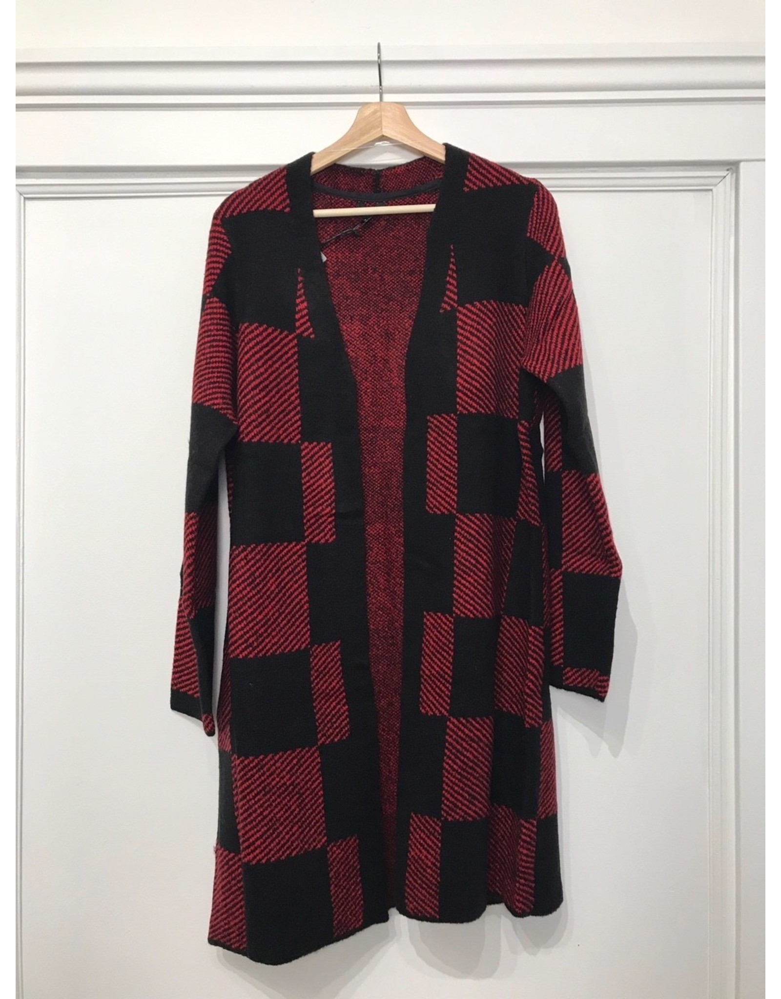 Yest Yest - Buffalo plaid knit cardigan