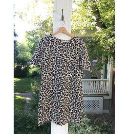 Luna Blue Cleo - leopard print dress