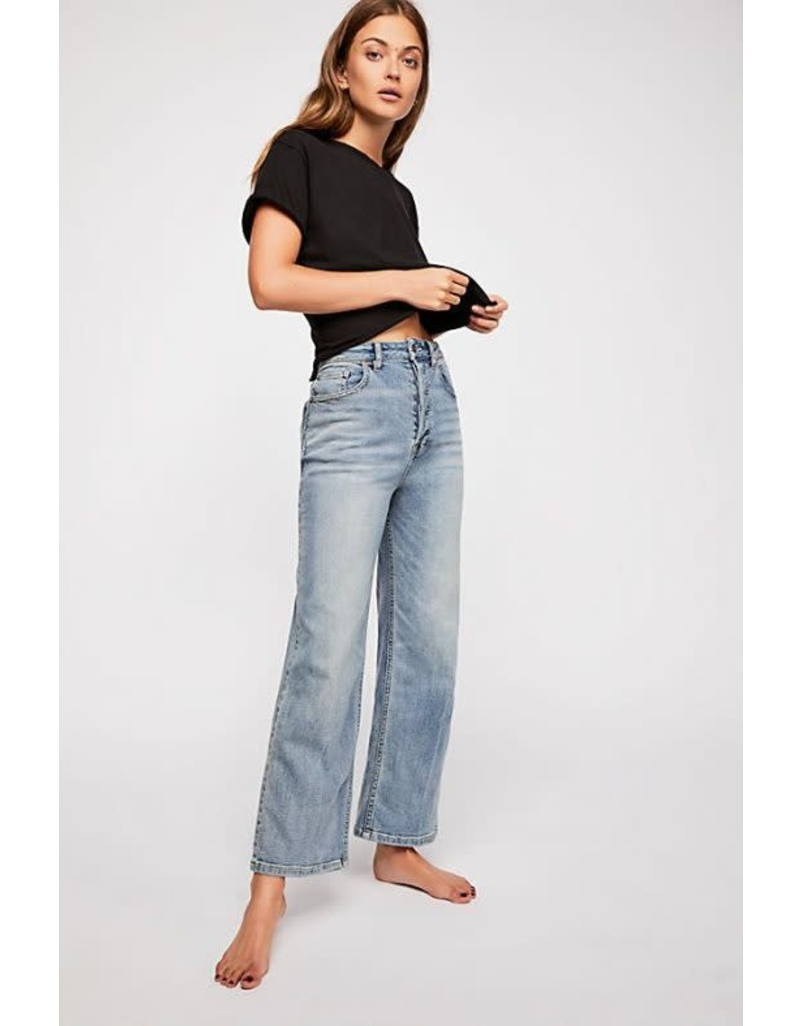 Free people Free People Wales Wide-Leg Jeans (washed out indigo)