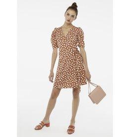 Compania Fantastica Compania Fantastica - Brown petal wrap dress