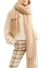 Free people Jaden ribbed fringe blanket scarf