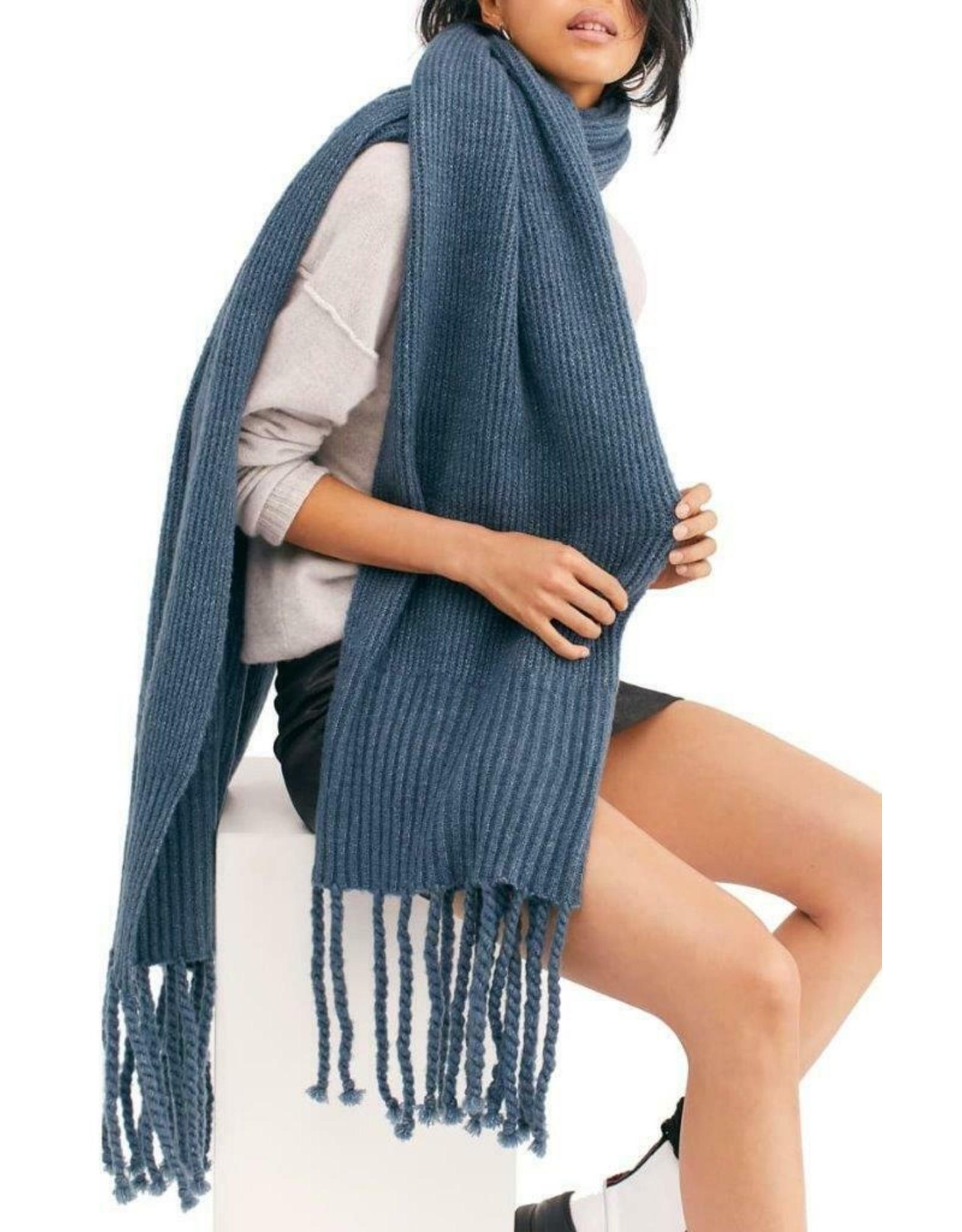 Free people Jaden ribbed fringe blanket scarf