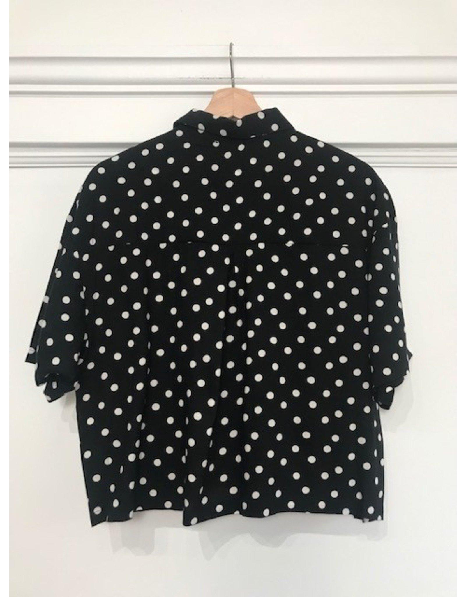 RD Style RD Style Retro polka dot top (black)