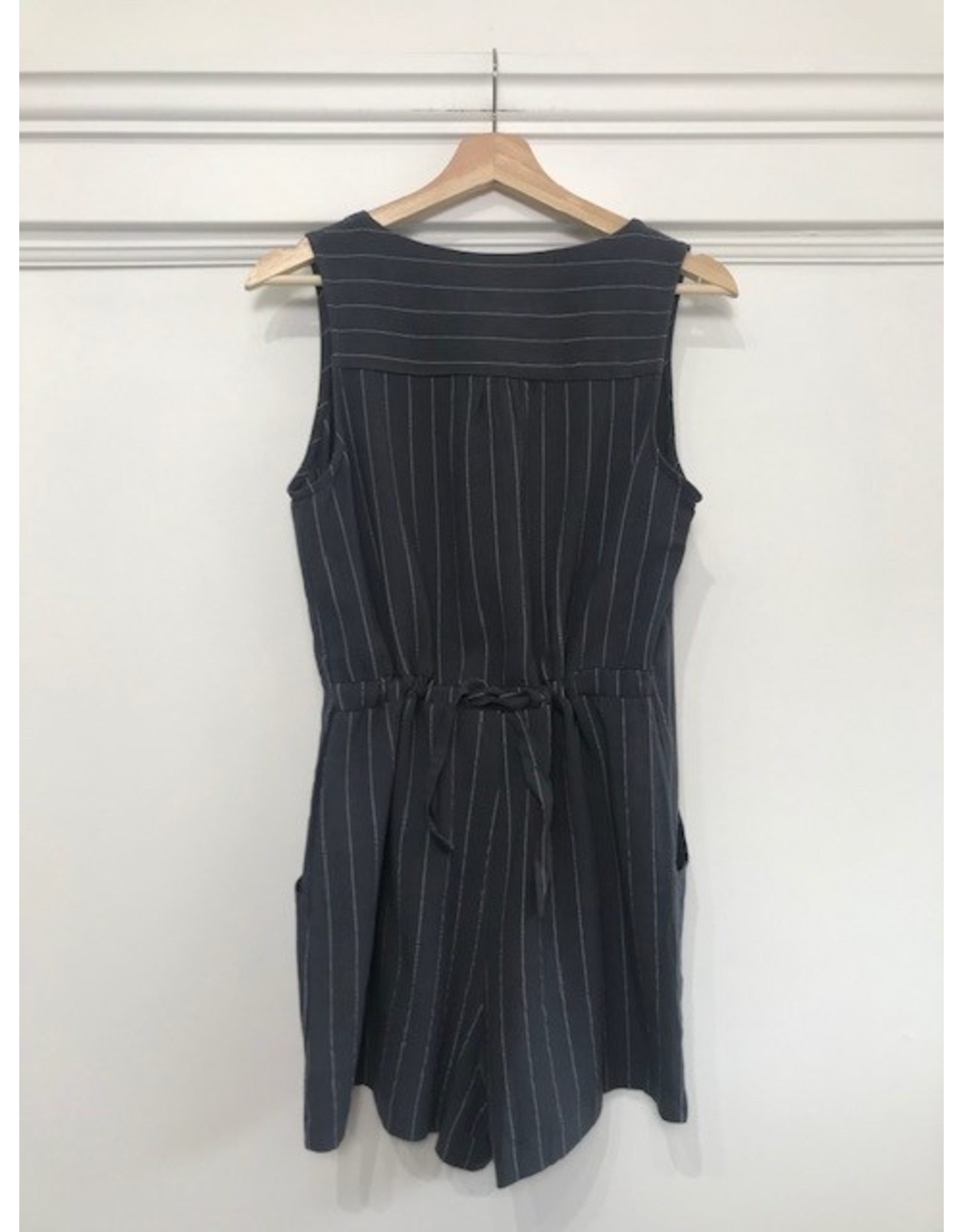Papillon Papillon - Striped romper with back tie