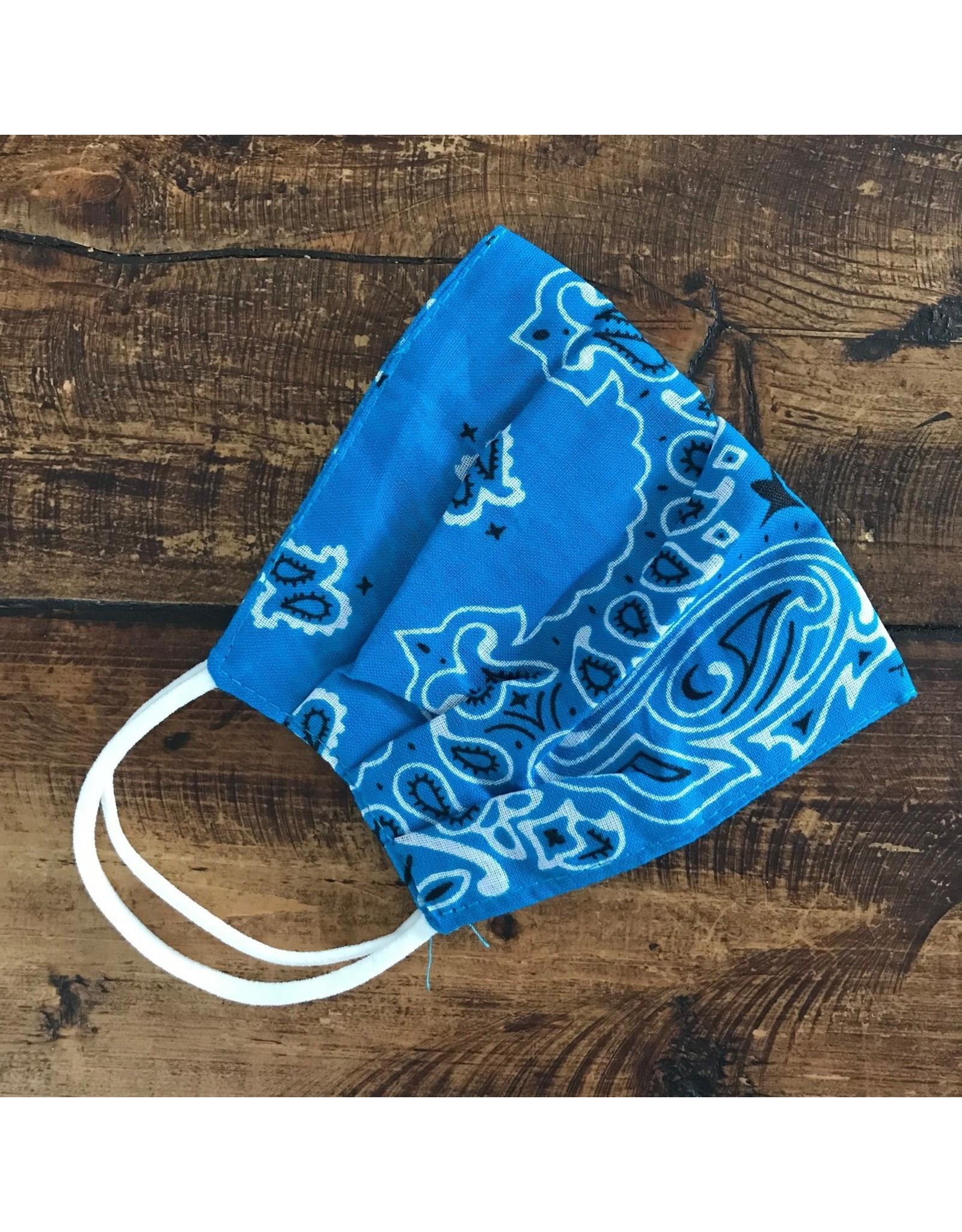 Bandana print face mask (turquoise)