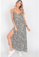Venus - Animal print maxi with side slit