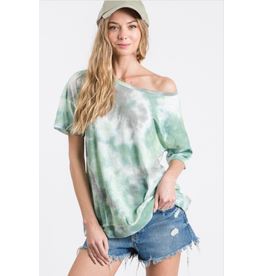 Kyla - Tie dye top with outside stitching