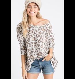 Lina - Animal print ribbed knit top