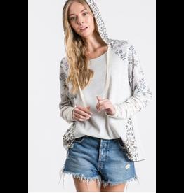 Natalia - Mixed print hoodie