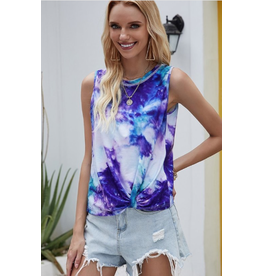 Vada - Sleeveless tie dye top (2 colours)