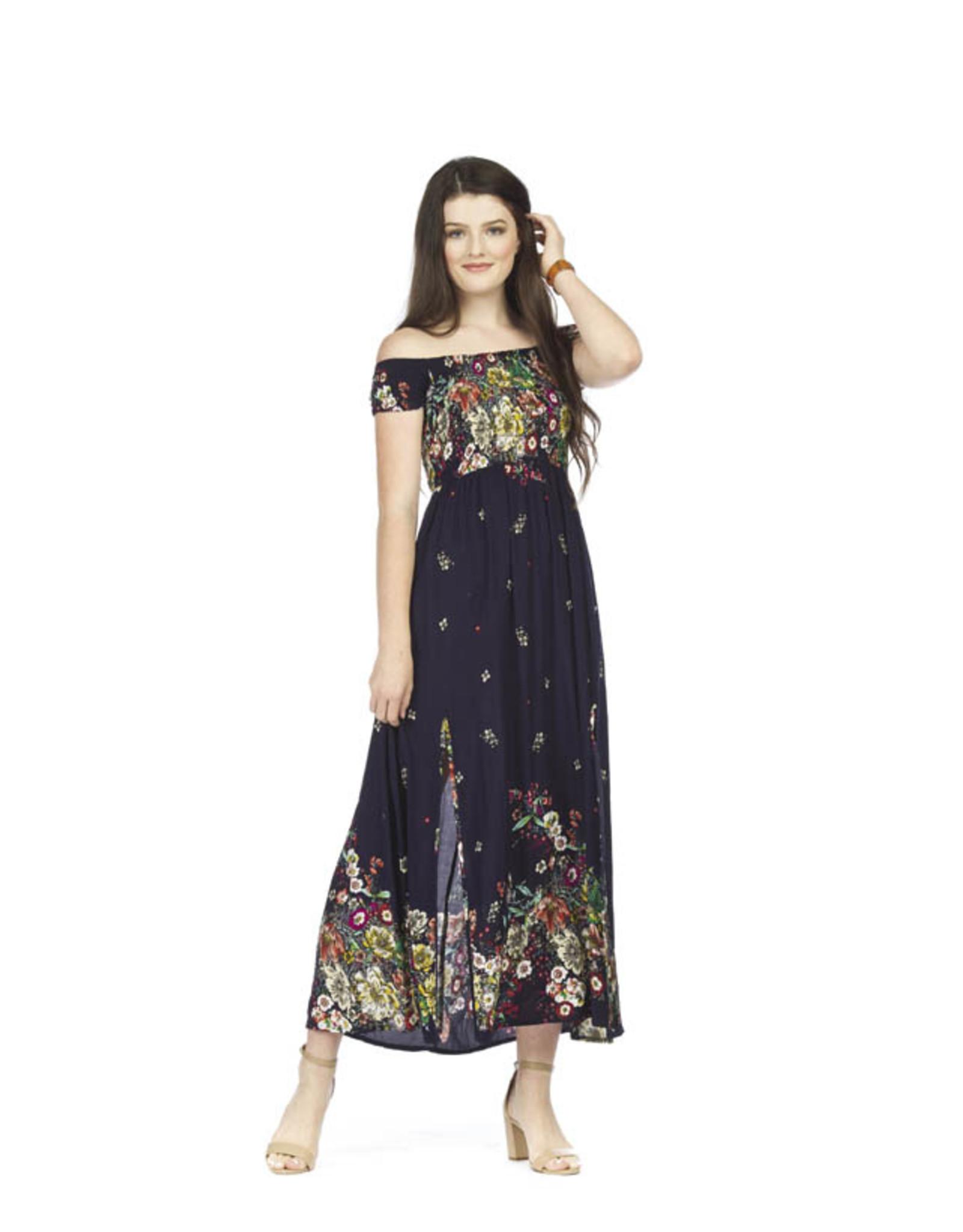 Papillon Papillon - Floral smocked maxi dress