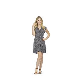 Papillon Papillon - Spotted ruffle trim dress