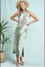 Celine - Tie dye midi dress (olive)