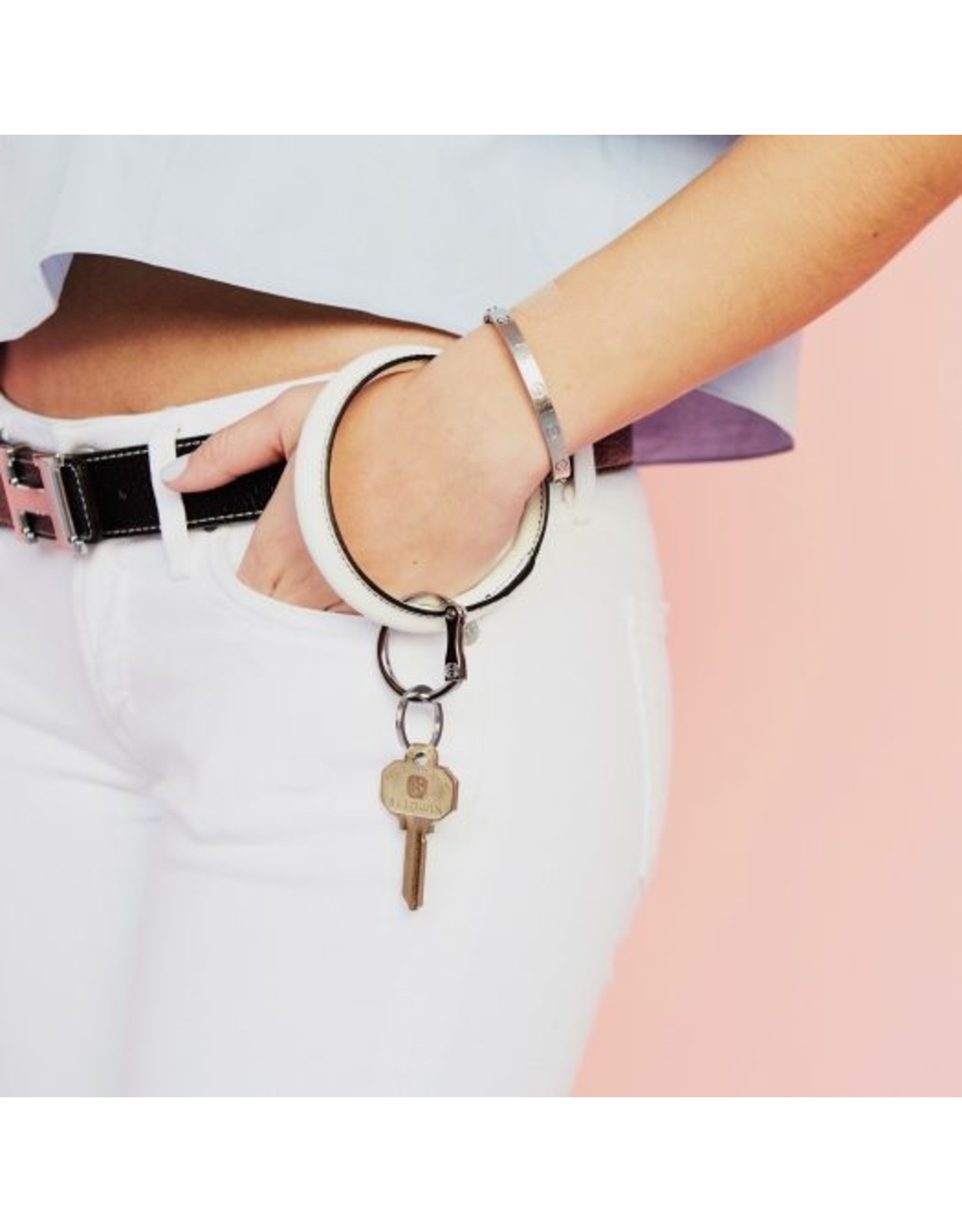 O Venture Smooth leather key ring (multiple colours)