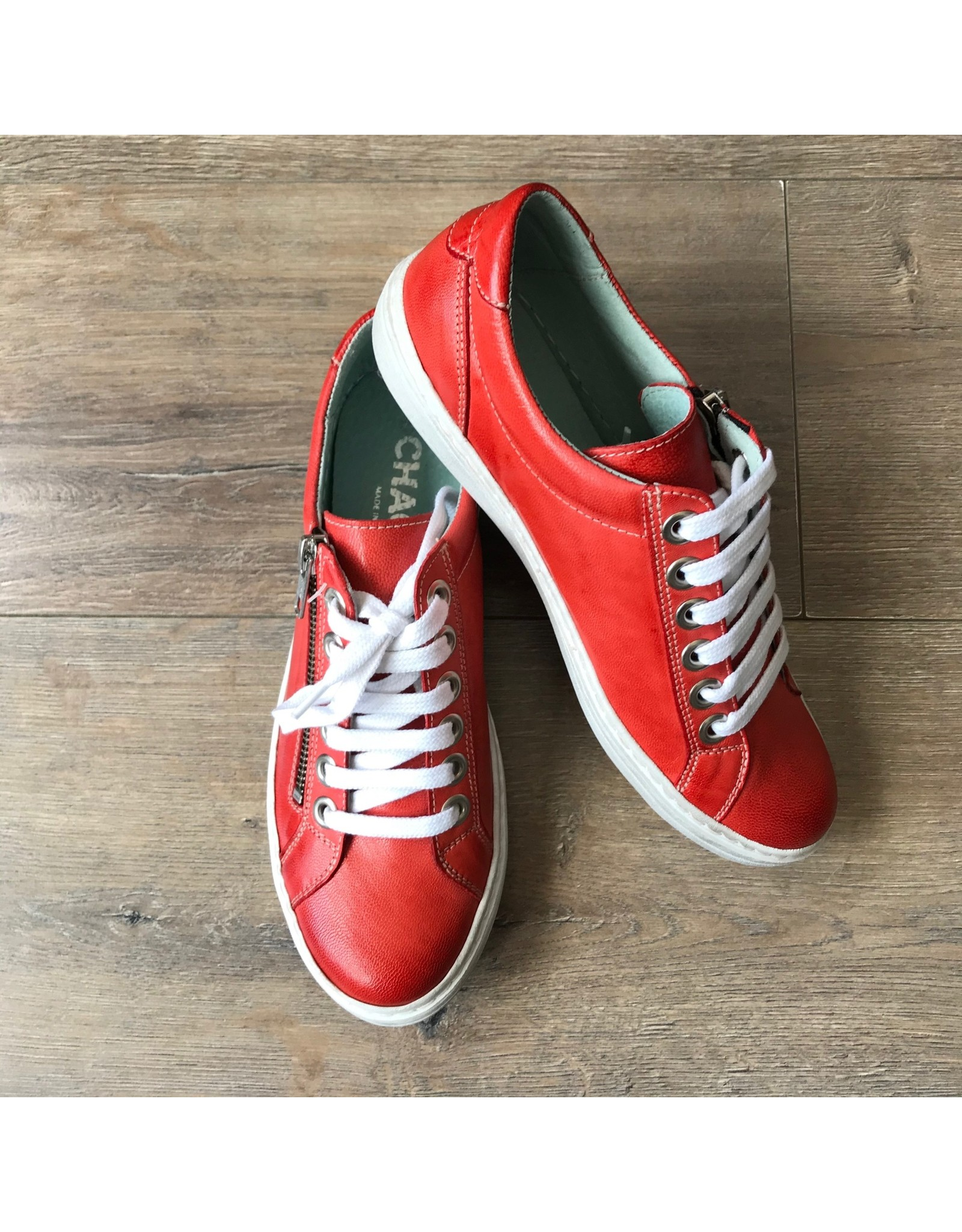 Chacal Chacal - Lila leather sneaker (red)