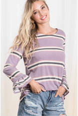 Brielle - Striped top with flared sleeves
