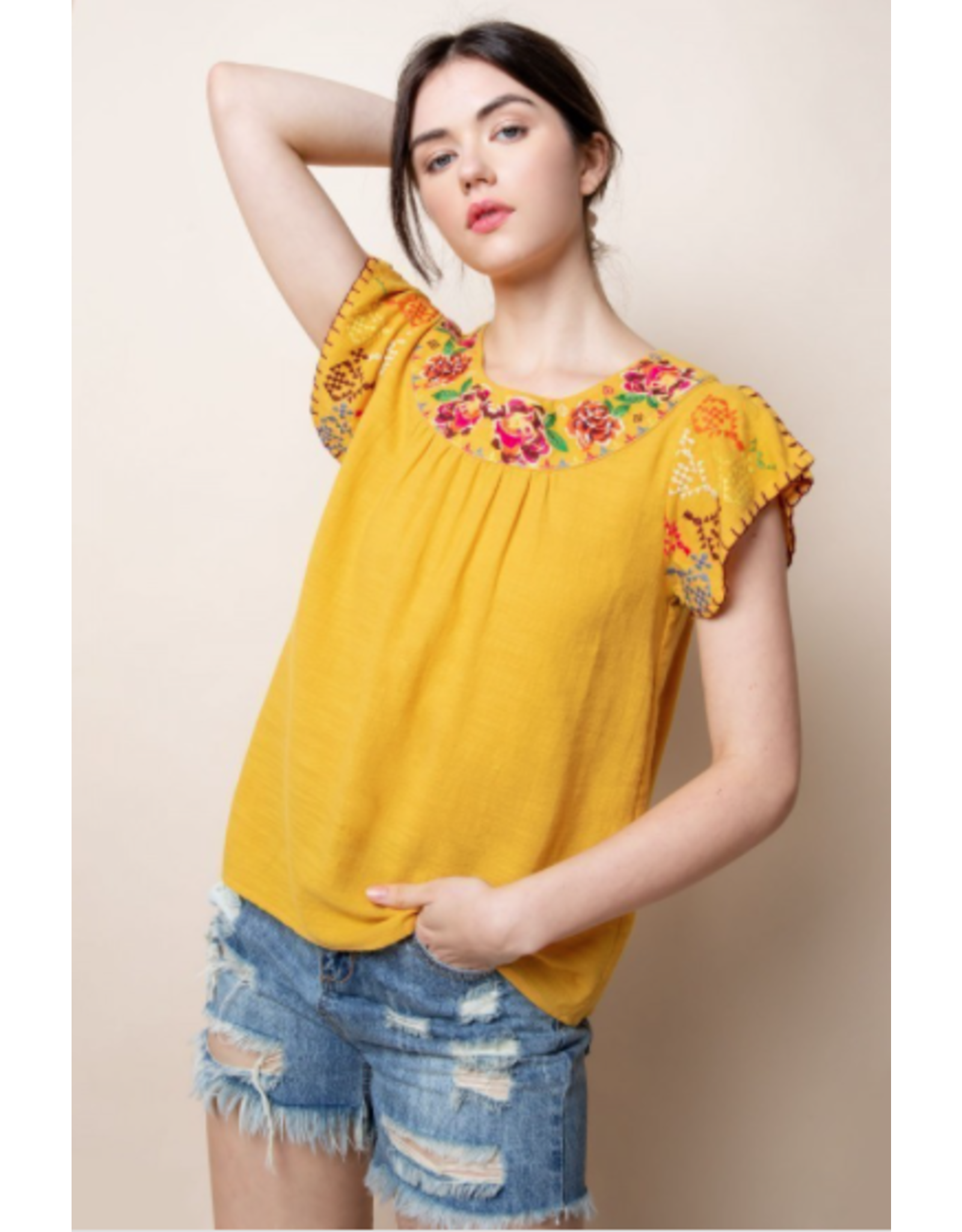 Selma - Embroidered top