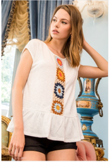 Tabitha - Knit top with crochet detail