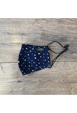 Papillon Papillon - Star print cotton mask (navy)
