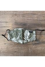 Papillon Papillon - Tropical print cotton mask (khaki)