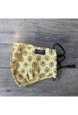 Papillon Papillon - Geo cotton mask (yellow)