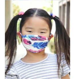 Feather print - KIDS - Washable face mask