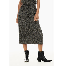 Garcia Garcia - Black Pleated Skirt With Allover Print