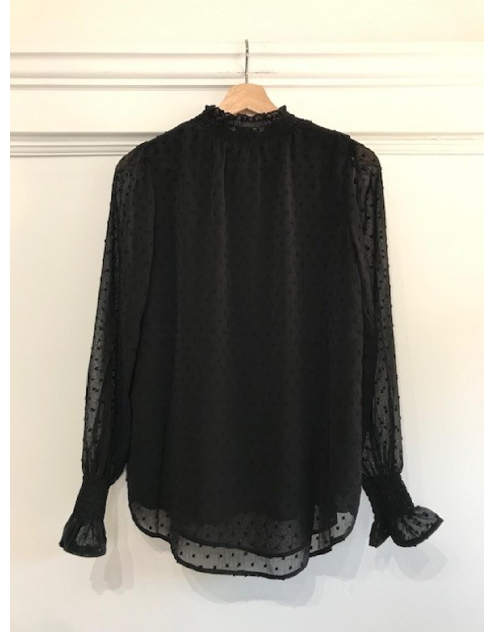 Papillon Papillon - Mock neck blouse (black)