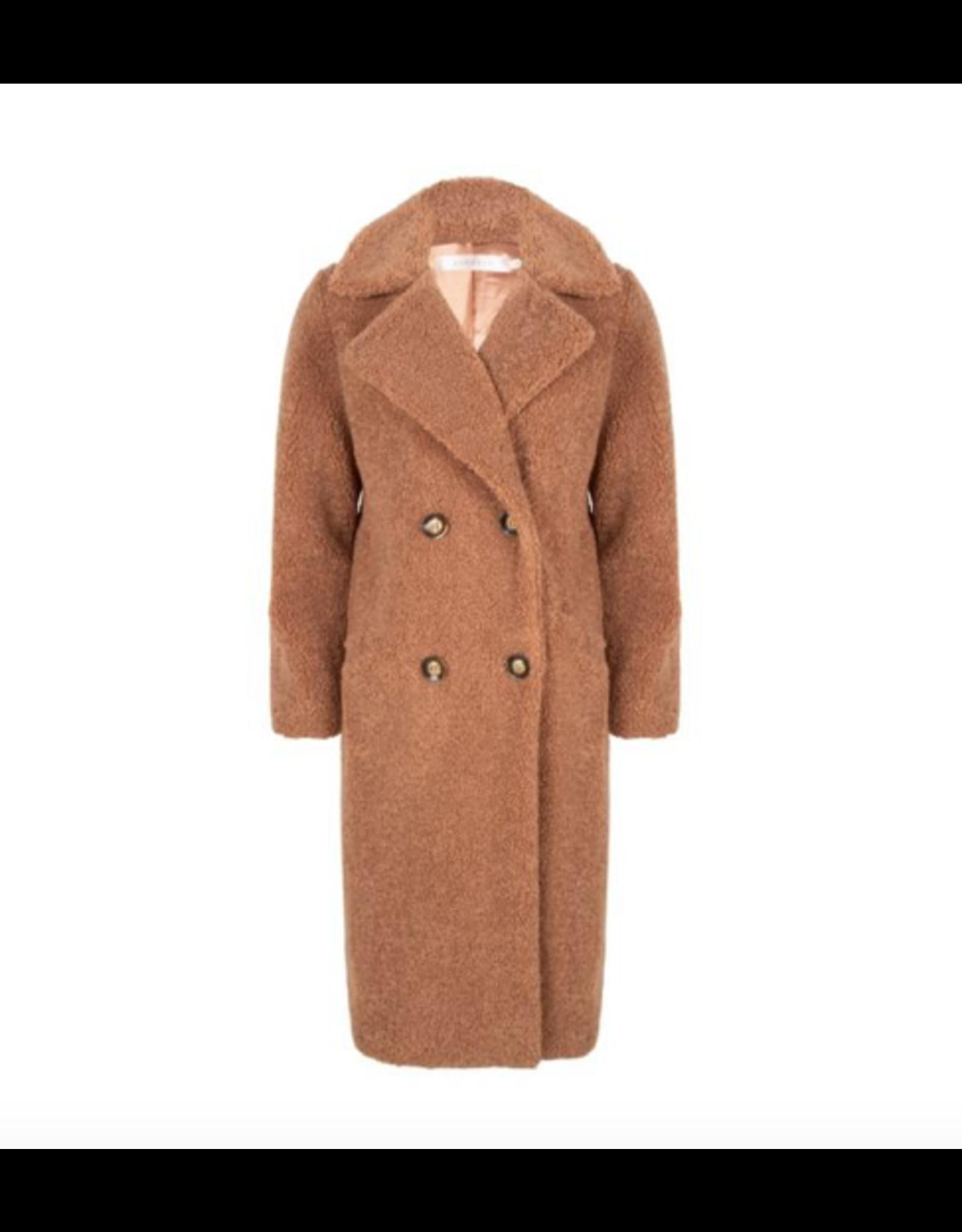 EsQualo EsQualo - Long boucle coat (cinnamon)