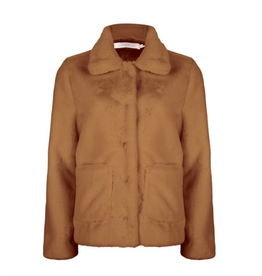 EsQualo EsQualo - Faux fur short coat (cinnamon)