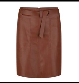 EsQualo EsQualo - Faux leather skirt with waist belt