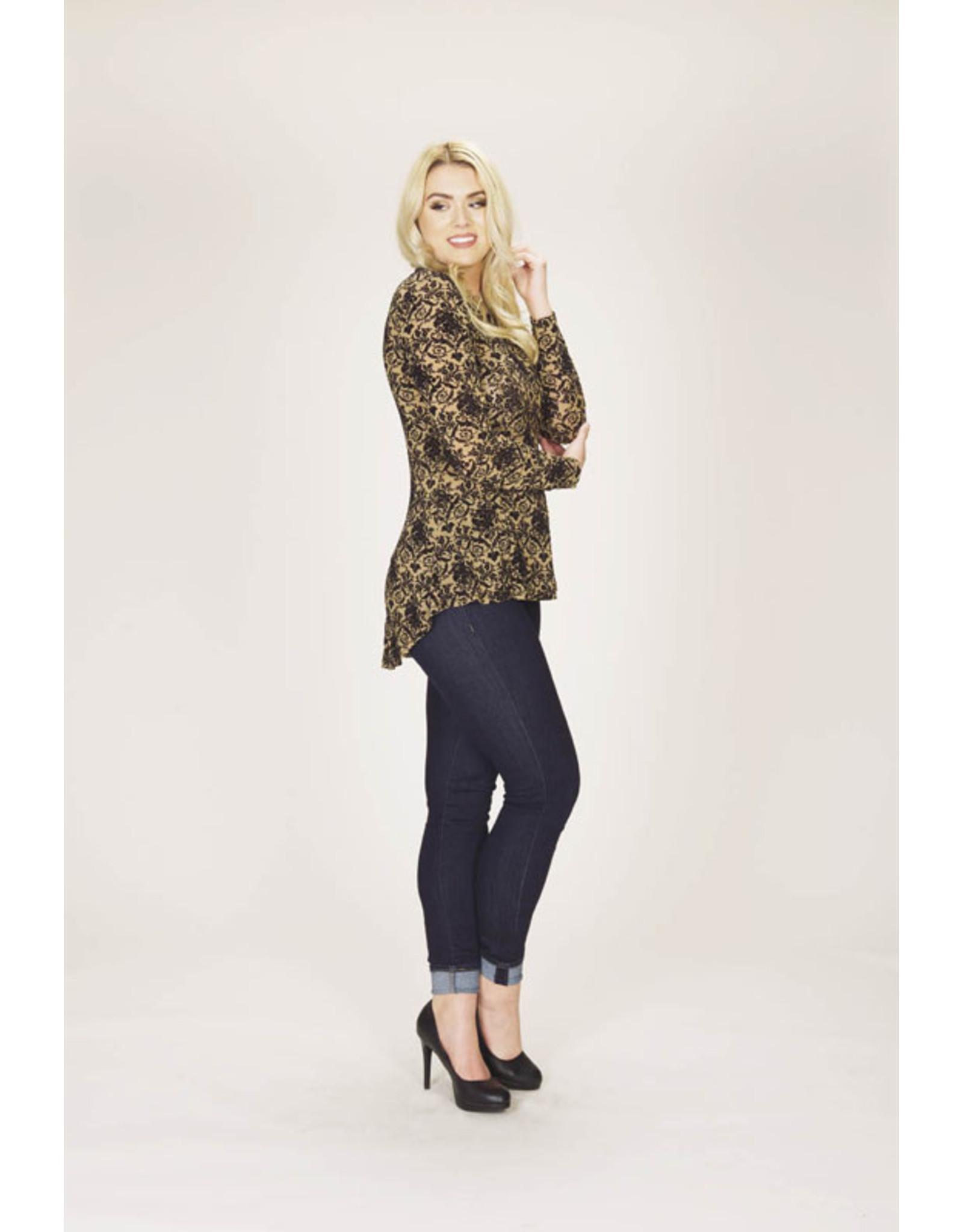 Papillon Papillon - velvet peplum blouse (brown)
