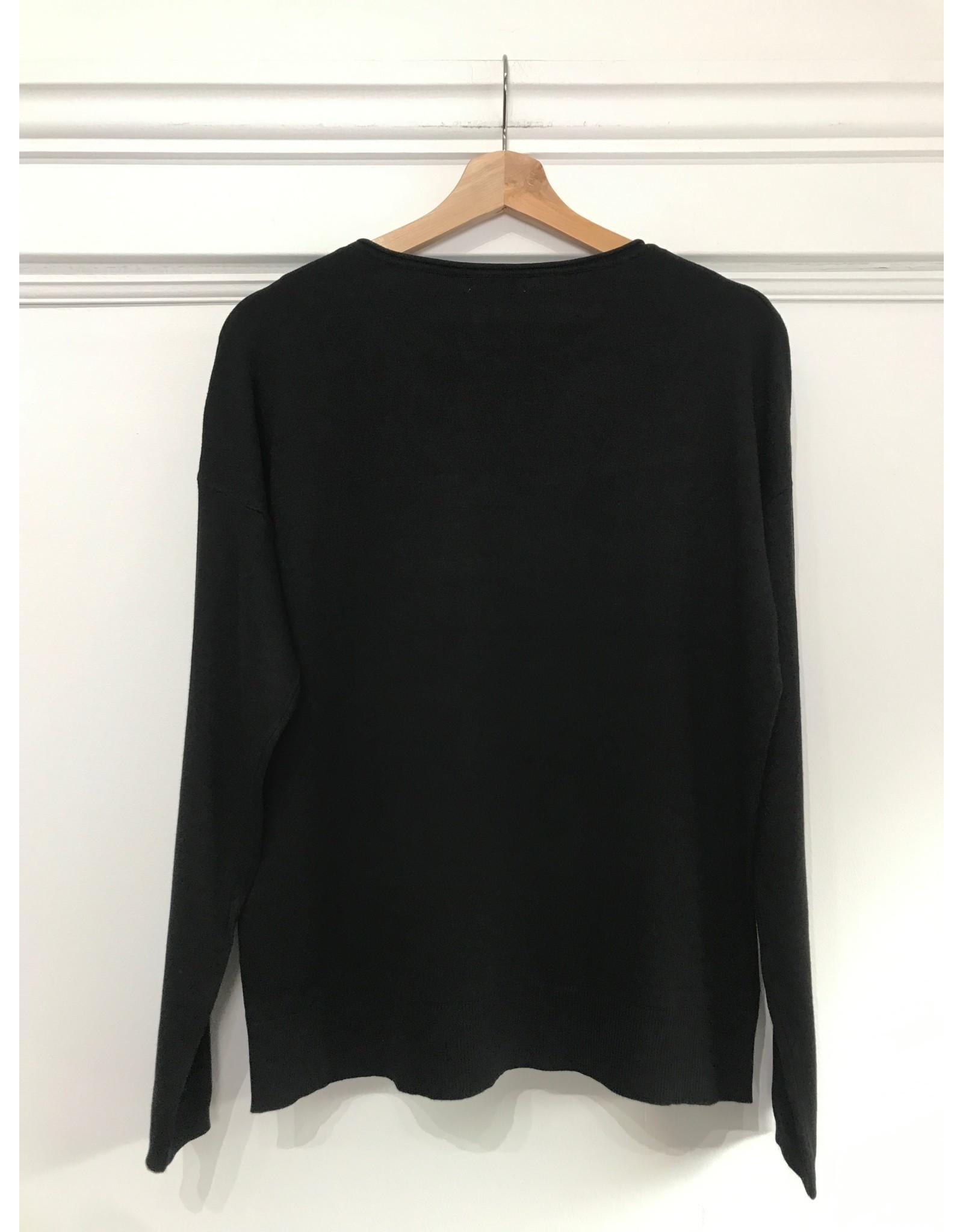 EsQualo EsQualo - OK Sequined sweater (black)