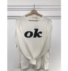 EsQualo EsQualo - OK Sequined sweater (off white)